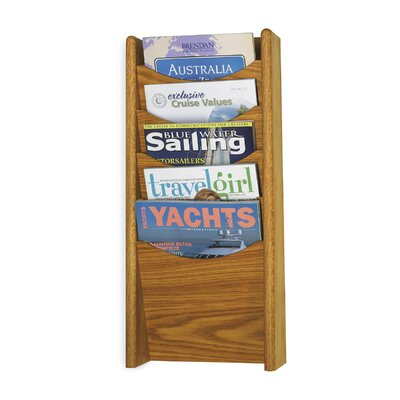 Safco Products Company 5 Pocket Wood Magazine Rack
