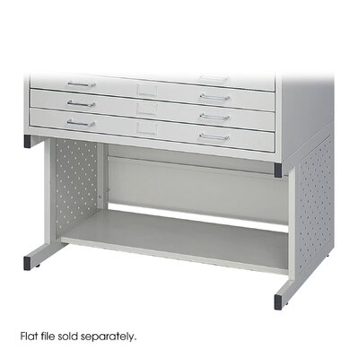 Safco Products Company Facil Flat Small File High Base in Light Gray