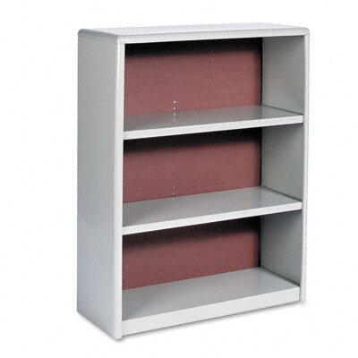Safco Products Company Value Mate Series Bookcase, 3 Shelves, 31-3/4w x 13-1/2d x 41h, Gray
