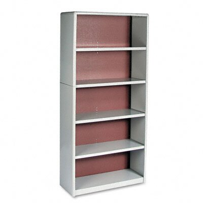 Safco Products Company Value Mate Series Bookcase, 5 Shelves, 31-3/4w x 13-1/2d x 67h, Gray