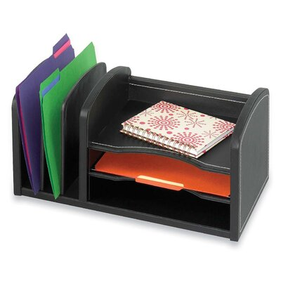 Safco Products Company Three Shelf Organizer with Three Slots in Black