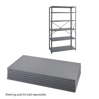 "Safco Products Company 24"" Industrial Steel Shelving in Dark Gray"