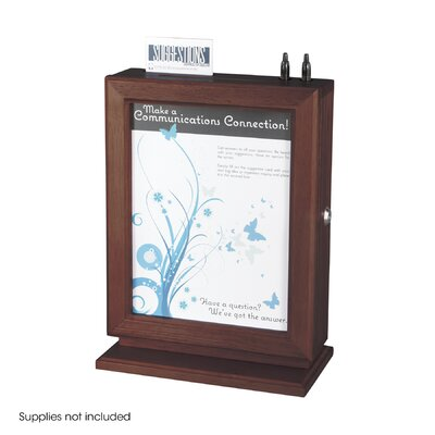 Safco Products Company Customizable Wood Suggestion Box