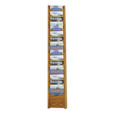 Safco Products Company Eighteen Pocket Wood Magazine Rack