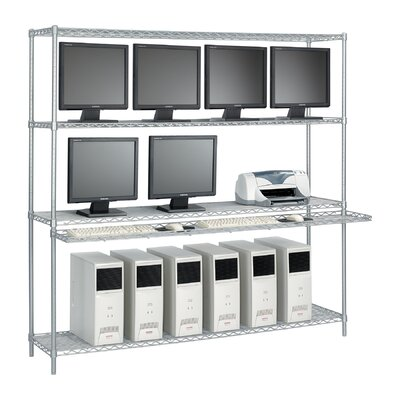 "Safco Products Company 72"" Wide Wire LAN Management System with Accessories"