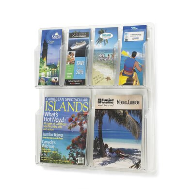 Safco Products Company Safco Magazine Rack with 4 Pamphlet Pockets and 2 Magazine Pockets