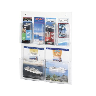 Safco Products Company Safco Magazine Rack with 4 Pamphlet and 2 Magazine Pockets