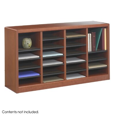 Wood E-Z Stor Literature Organizers in Cherry