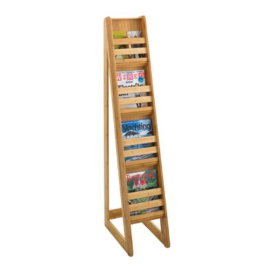 Safco Products Company Bamboo Magazine Floor Display