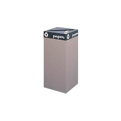 "Safco Products Company Public Square 44"" H Recycling Receptacles"
