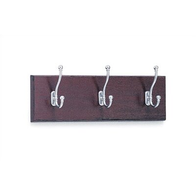 Safco Products Company Three-Hook Wood Coat Rack