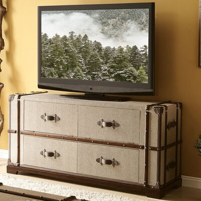 "Riverside Furniture Bon Voyage Steamer Trunk 58"" TV Stand"