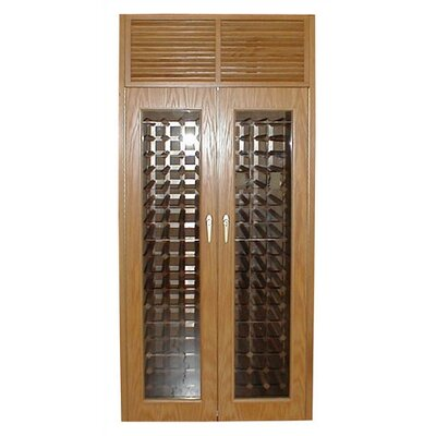 Vinotemp 440 Two Door Oak Wine Cooler Cabinet with Front Exhaust