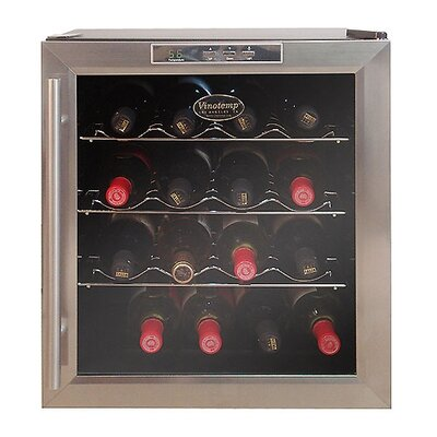 Vinotemp VT-16 Thermoelectric Wine Cooler with Stainless Door