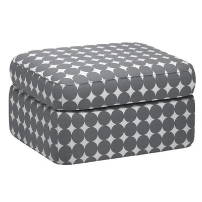 DwellStudio Rounded Cotton Ottoman
