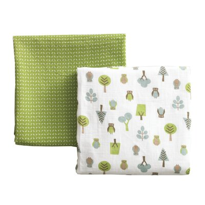 DwellStudio Owls Multi Swaddle Blanket 2-Pack