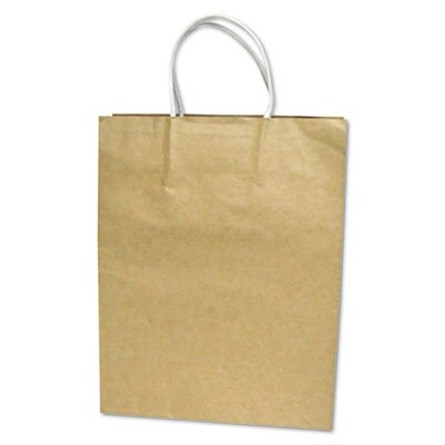 Cosco Home and Office Premium Small Brown Paper Shopping Bag, 50/Pack