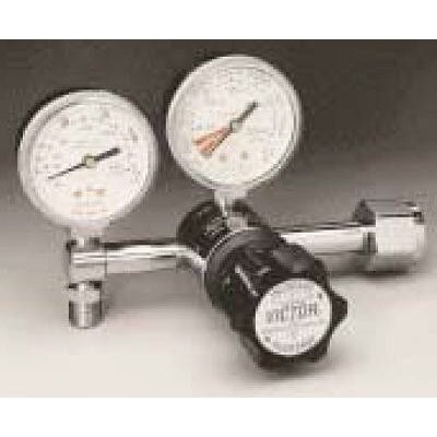 "Victor VMG-15SY Medical Oxygen Regulator, 2-15 LPM, CGA-540, 1-1/2""Gauges"