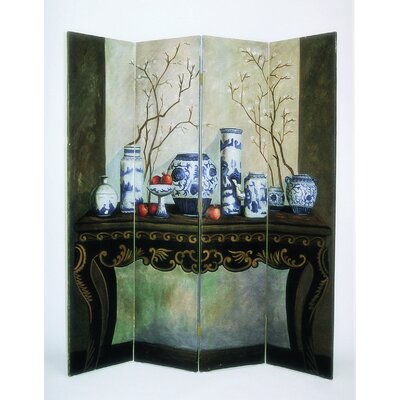 Blue China Arrangement Theme Room Divider