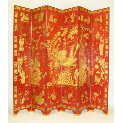 Wayborn Lucky Red Phoenix Room Divider