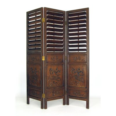 Floral Wood - Carved Room Divider