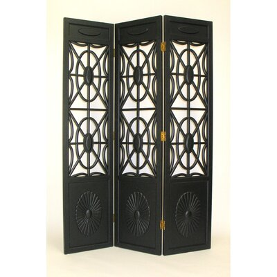 Gothic Flower Bomb Room Divider in Black
