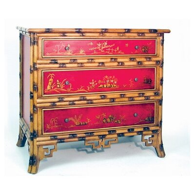 Wayborn Hand Painted Oriental Bamboo Chest