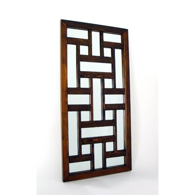 Wayborn Ninpo Mirror in Distressed Brown