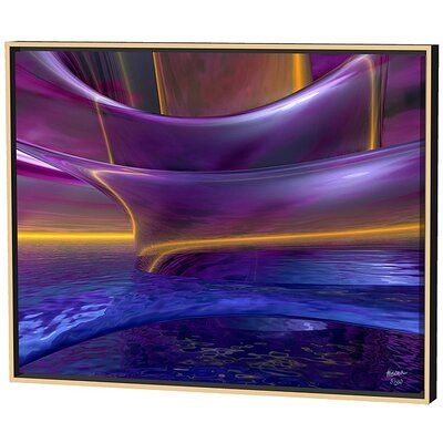 Menaul Fine Art Purple Waves Limited Edition Framed Canvas - Scott J. Menaul