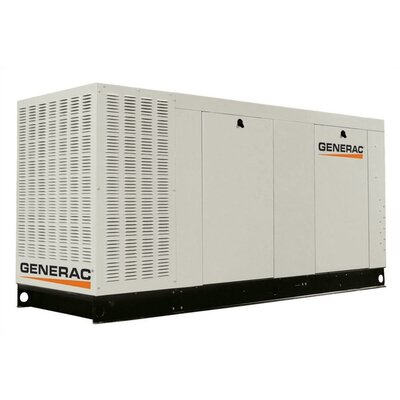 Generac 80 Kw Liquid-Cooled Three Phase 120/240 V Natural Gas Standby Generator with CSA, and EPA Compliance in Aluminum