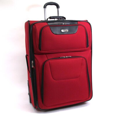 "Kenneth Cole Reaction ""Lites, Camera, Action!"" 29"" Wheeled Suitcase in Red"