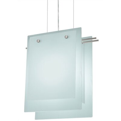 Suspended Glass A 2 Light Foyer Pendant