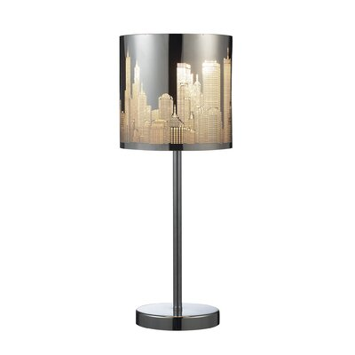 Elk Lighting Skyline One Light Portable Lamp in Polished Stainless Steel