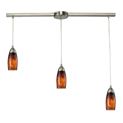 Milan 3 Light Linear Pendant