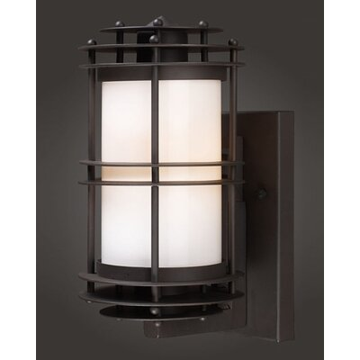 "Elk Lighting Burbank 6""  Outdoor Wall Lantern in Clay Bronze"