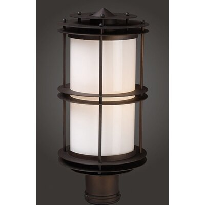 Elk Lighting Burbank  Outdoor Post Lantern in Clay Bronze