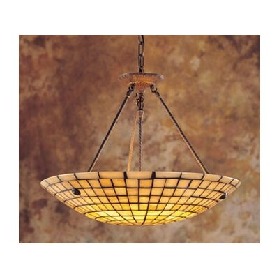 Stone Mosaic 8 Light Inverted Pendant