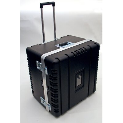 Platt Heavy-Duty ATA Case with Wheels and Telescoping Handle in Black: 23 x 23.13 x 17.5