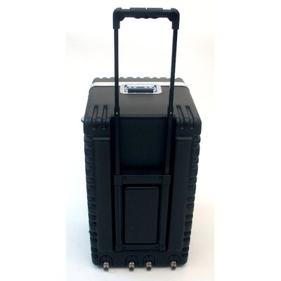 Platt Heavy-Duty ATA Case with Wheels and Telescoping Handle in Black: 16.25 x 27.5 x 19.25