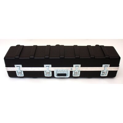 Heavy-Duty ATA Case with Wheels and Telescoping Handle in Black: 11.5 x 47.5 x 11.25 ...