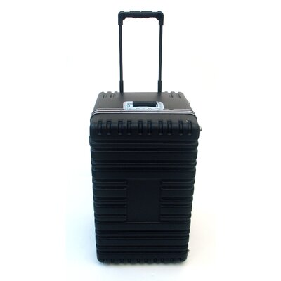 Platt Transporter Tool Case with Wheels and Telescoping Handle in Black: 17 x 27.25 x 15.25