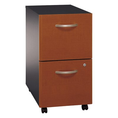Bush Industries Series C Two Drawer Mobile Vertical Filing Cabinet