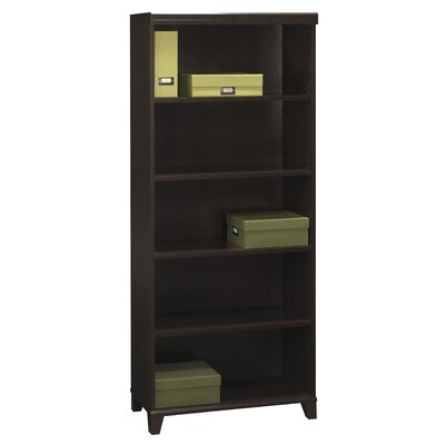 Bush Industries Tuxedo Bookcase in Rich Mocha Cherry