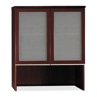 Bush Industries Milano 2 Double Ped Desk with Bookcase Hutch