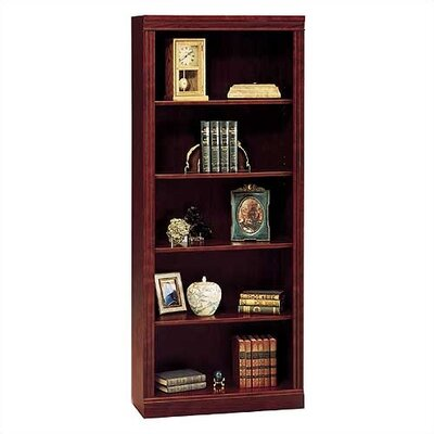 "Bush Industries Saratoga 72"" H Five Shelf Bookcase in Cherry"