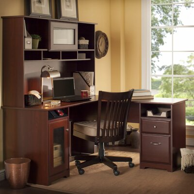 Bush Industries Cabot L-Desk with Hutch