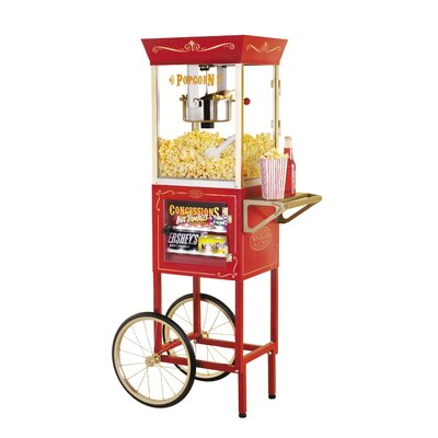 Nostalgia Electrics Vintage 6 Ounce Popcorn and Concession Cart