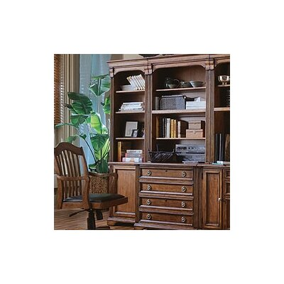Hooker Furniture Brookhaven 78&quot; H Left Bookcase in Medium Clear Cherry