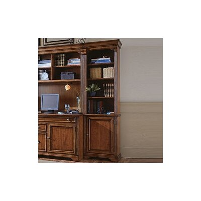 "Hooker Furniture Brookhaven 78"" H Right Bookcase in Medium Clear Cherry"