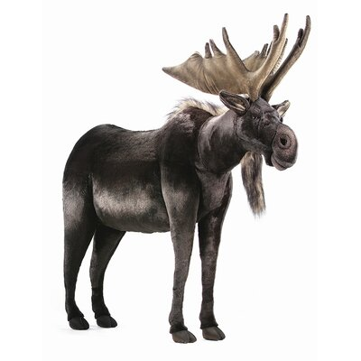 Hansa Toys Ride-On Life Size Moose Stuffed Animal